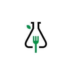 lab leaf logo logo icon vector image