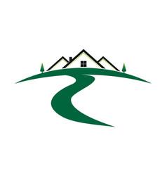 Landscape logo vector