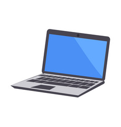 laptop icon electronic device vector image