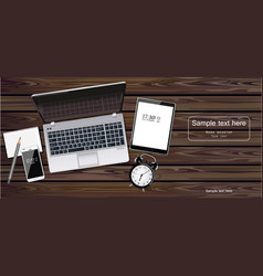 Laptop tablet and phone realistic new vector