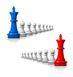 Leader in chess game vector