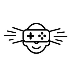 Logo icon of virtual reality human face with vector
