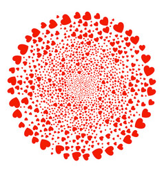 Love heart curl round cluster vector