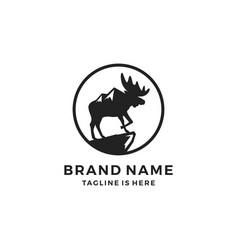 Moose pride mount logo template icon vector