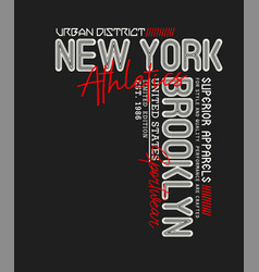 New york brooklyn typography slogan vector