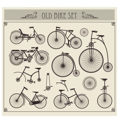 Old bikes vector image