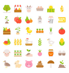 Organic farming products icon vector