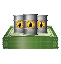 Petroleum and oil prices design vector