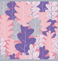 pink leaves pattern vector image