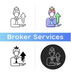 Power broker icon vector