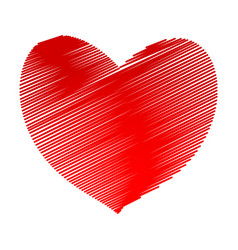 Red hatch heart symbol icon stock vector