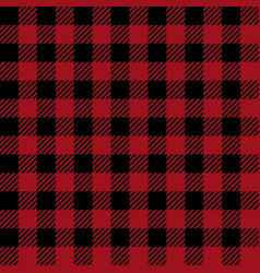 Red lumberjack seamless pattern vector