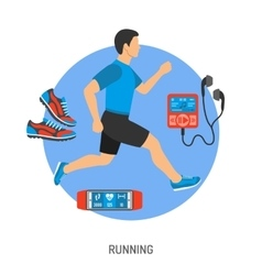 Running and Jogging Concept vector