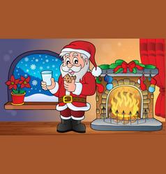 Santa claus breakfast theme 2 vector