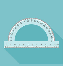 Semi circle ruler in real scale vector