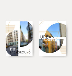 Set blurred urban backgrounds collection of vector