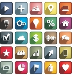 set different business icons vector image