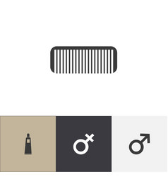 Set of 4 editable hairstylist icons includes vector