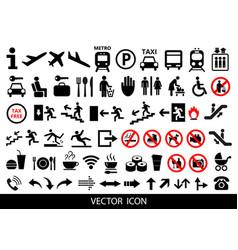 set of public icons on white background vector image