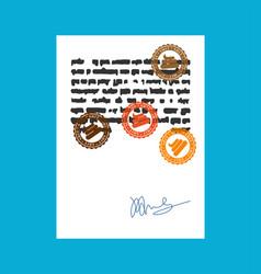 shit stamp for documents bullshit official boss vector image
