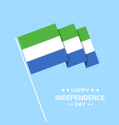sierra leone independence day typographic design vector image