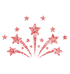 Star fireworks fabric textured icon vector