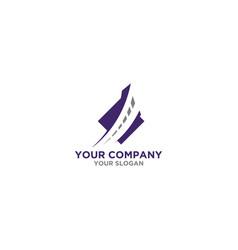 street insurance logo design vector image