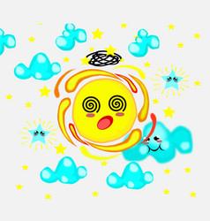 stunning cute suncartoon style vector image