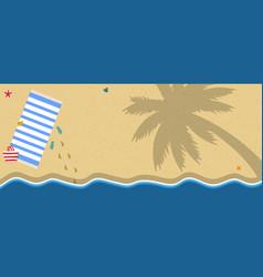 Top view of sea coast ocean seaside golden sand vector