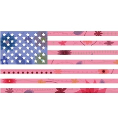 USA flag vintage vector image