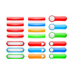 web buttons user interface elements set vector image