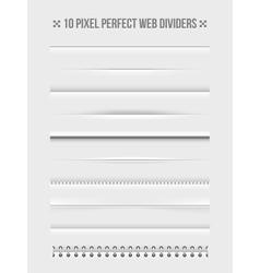 Web dividers design elements vector image