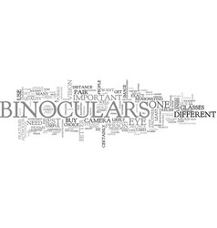 what would you use binoculars for text word cloud vector image
