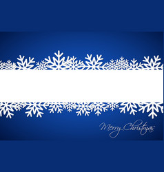 white christmas snowflake on blue background vector image