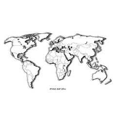 World map hand drawing vintage style black vector