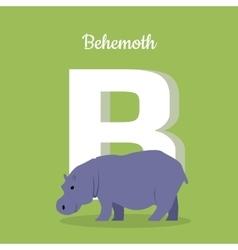 Animals Alphabet Letter - B vector image vector image