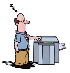 employee copy machine vector image vector image