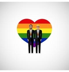 gay marriage flat vector image vector image