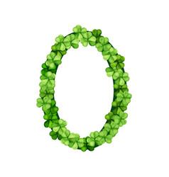 Oval frame clover vector