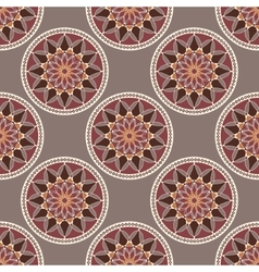 Seamless pattern withcolored coins vector image