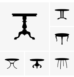 Small tables vector image vector image