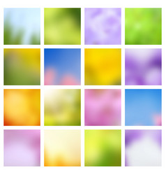 abstract nature spring and summer green and blue vector image vector image