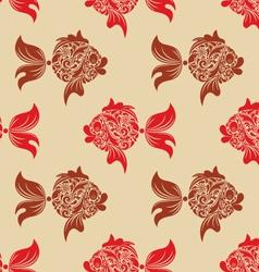 Fish print vector image vector image