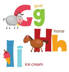 Funny alphabet 4 vector image