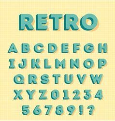 Graphic 3d retro characters vector image vector image