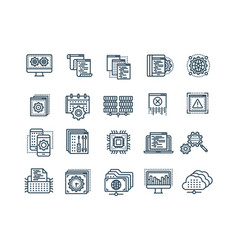 seo and app development search engine vector image