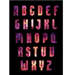 Trendy font vector image