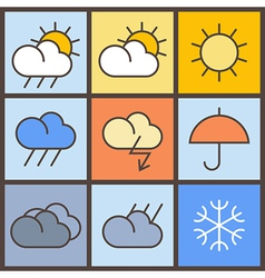 Weather symbols vector image