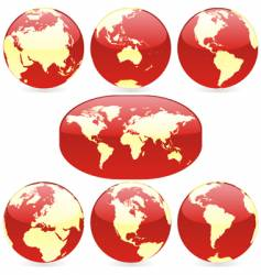 world globes and map vector image vector image