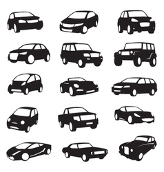 cars silhouettes vector image vector image